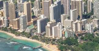 Skyline Waikiki Beach