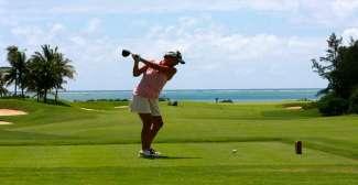 Golfen op de golbaan