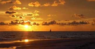 Zonsondergang Gulf of Mexico