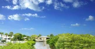 Uitzicht vanaf het Palm Manor Resort