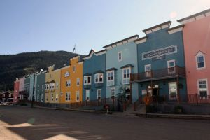 Rijtjeshuizen in Dawson City