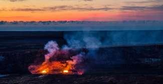 De actieve vulkaan Kilauea