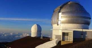 Het observatiecentrum op Big Island