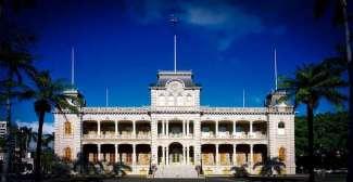 De voormalige residentie van de koning in Honolulu