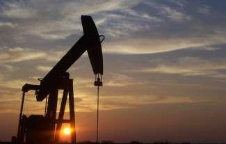 Een oude oliepomp in Texas