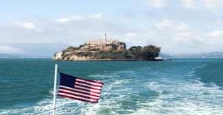 Uitzicht op Alcatraz Island