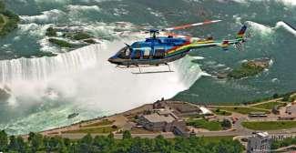 Helicoptervlucht Niagara Falls in de zomer