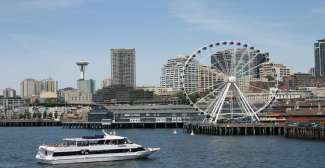 Seattle ligt in de staat Washington in het noorwesten.