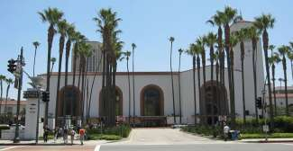 Het historische treinstation in downtown LA.