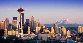 Mount Rainier ligt in Mount Rainier National Park, op iets meer dan 2 uur rijden van Seattle.