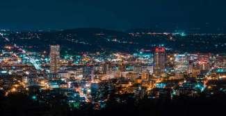 Portland bij nacht