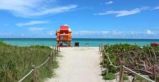 Lifeguard op het strand van Florida