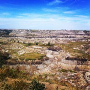 Hoodoos Dinosaur Provincial Park in the Badlands (copyright Westiwent)