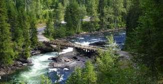 Murtle River met Mushbowl brug