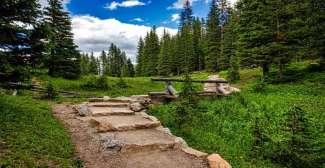 Landschap van de Rocky Mountain