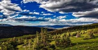 Uitzicht over Rocky Mountain NP