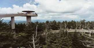 Vanaf het Clingmans Dome heb je een prachtig uitzicht over het Great Smoky Mountains National Park.