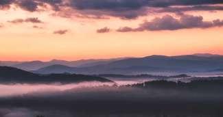Het Great Smoky Mountains National Park ligt in het oosten van Amerika.