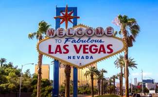 Als u Las Vegas binnenrijdt ziet u dit Las Vegas bord.