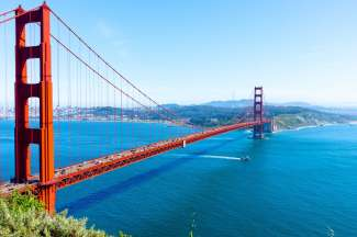 De Golden Gate Bridge is al sinds 1937 het opvallende symbool van San Francisco.
