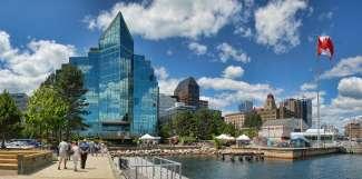Halifax is een belangrijke havenstad en de hoofdstad van Nova Scotia.