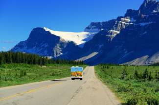 Een panoramische route met uw camper van Cruise Canada.