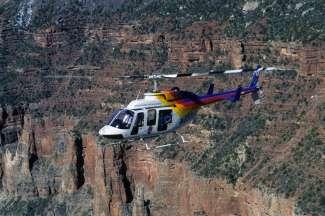 Wauw dit is een gave beleving, vliegen boven de Grand Canyon.