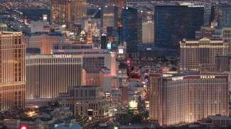 Geniet van de mooie lichten van de hotels op de Strip!
