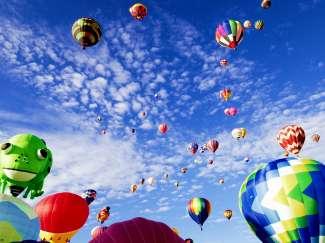 Wereldberoemd luchtballonfestival in Albuquerque.