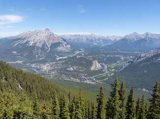Uitzicht op Banff vanaf Sulphur Mountain