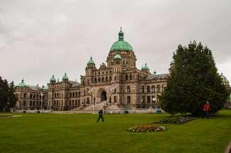 Het parlement gebouw van Victoria