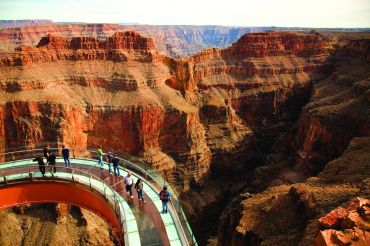 Skywalk over de Grand Canyon