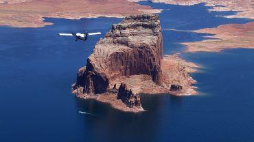Vliegen over Lake Powell