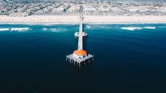 Aerial View Huntington Beach