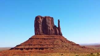Monument Valley is vraag gebruikt als achtergrond in een film.