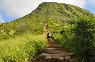 Neem 1.048 treden omhoog naar de top van Koko Head.