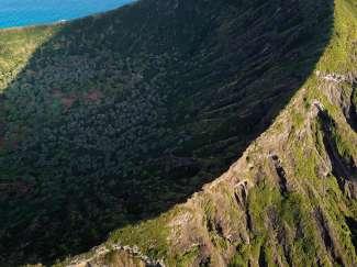 Voor de top van de Koko Head Crater moet u vele traptreden beklimmen.