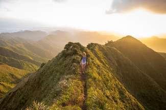 Tot onze grote spijt mogen de Haiku Stairs niet meer bewandeld worden. Het uitzicht is er fantastisch.