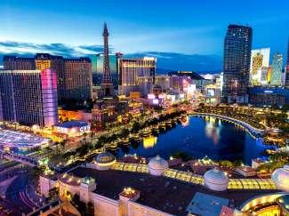 De Las Vegas Strip is het bruisende hart van Las Vegas met de wereldberoemde hotels en casino's.