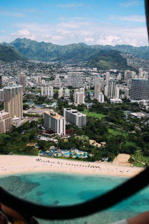 Vliegen over Waikiki