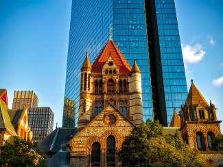 Boston is een leuke mix van historische gebouwen en moderne wolkenkrabbers.