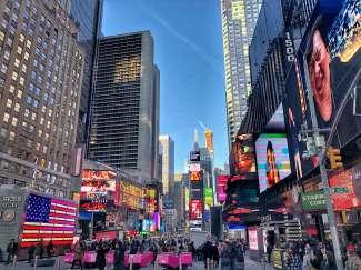 Vergeet niet om in New York de Times Square te bezoeken!