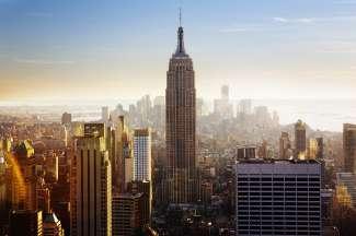 Het ultieme uitzicht over Manhattan vanaf de Top of the Rock, oftewel Rockefeller Center, zodat u het Empire State Building ook kunt aanschouwen.