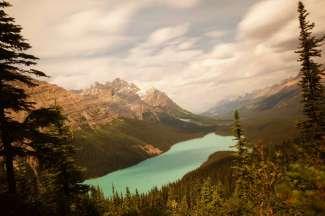 Een beroemd meer in Banff National Park.