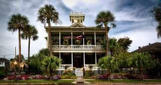 Het 140 jaar oude Ruhl House is een van de opvallendste woningen in Galveston.