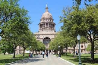 Het Texas Capitol bevindt zich in het centrum van Austin.