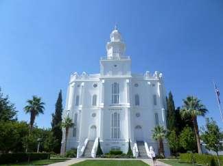 St. George Temple Utah ligt in het historic district van St. George.