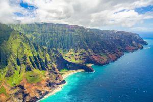 De kust van Kauai