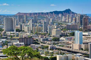 Honolulu met op de achtergrond Diamond Head