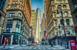 Het One World Trade Center in Manhattan  is het hoogste gebouw van de Verenigde Staten.